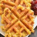 Waffles de pavo y relleno