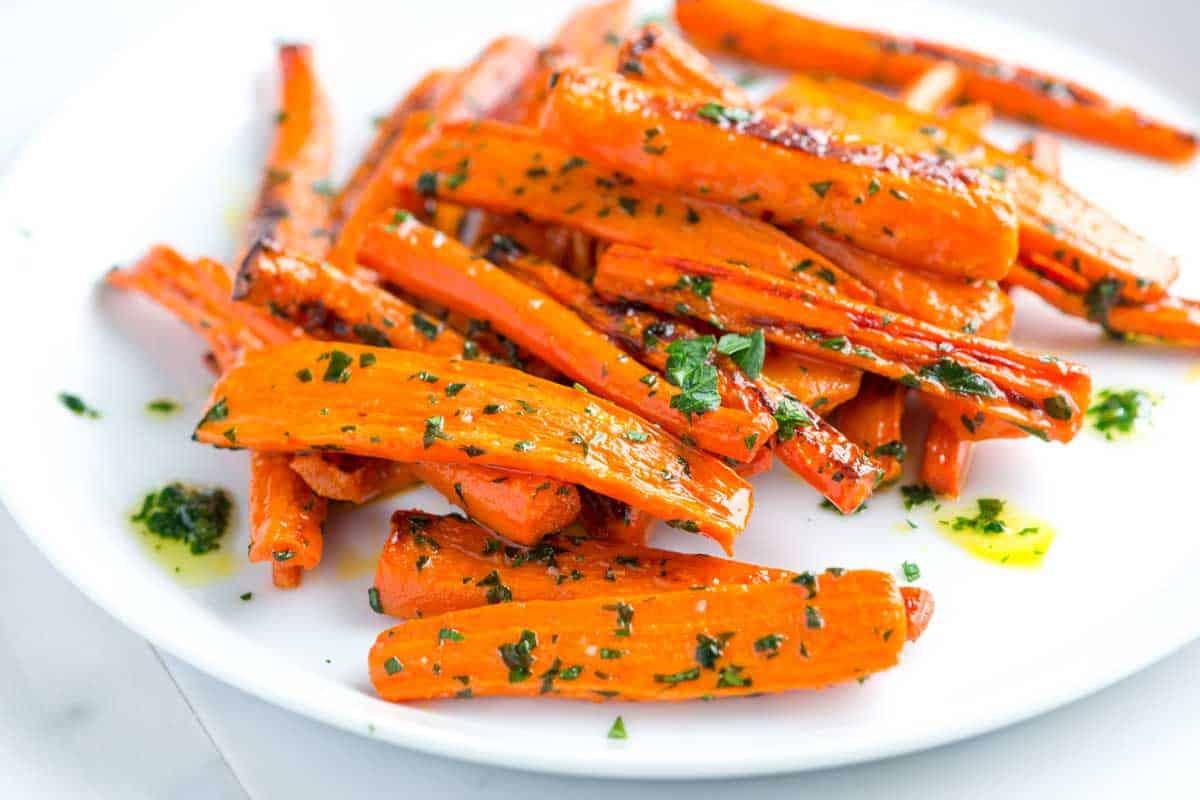 Roasted carrots with parsley butter recipe