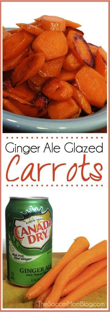 Como fazer cenouras vitrificadas doces e salgadas incríveis com apenas uma lata de cerveja de gengibre. Um enfeite incrível (e fácil) que não deixa sobras!