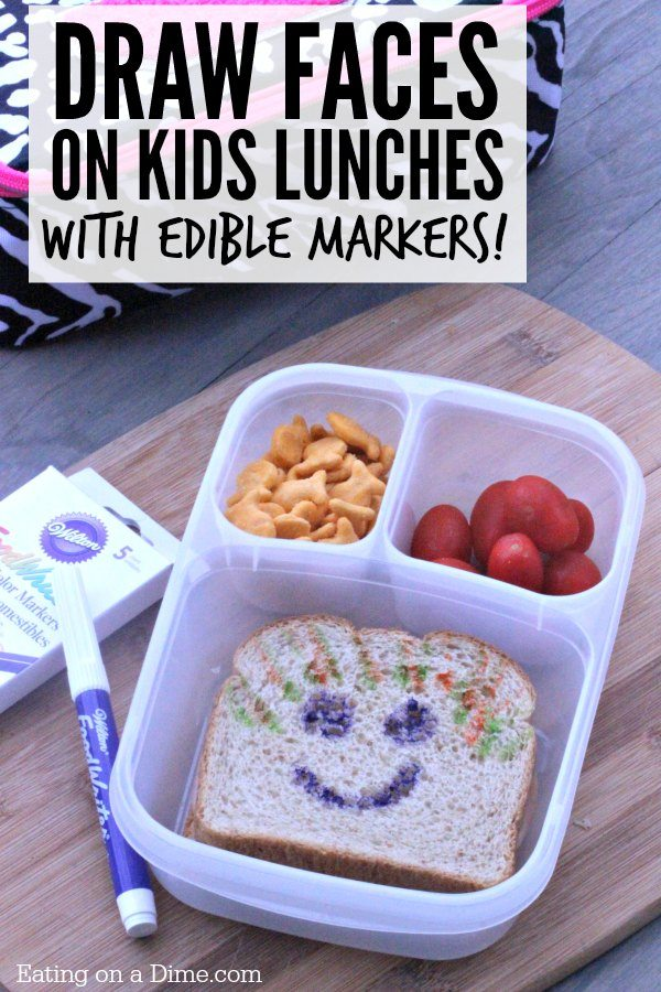 Easy Kids Lunch Ideas: How to Personalize Your Kids Lunch with Edible Bookmarks! Kids love this fun and easy lunch idea