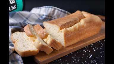 Pan de proteína de colágeno ceto