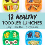 Imagen de Pinterest para ideas de almuerzos saludables para niños pequeños