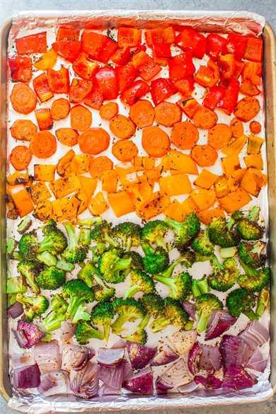 Verduras asadas del arco iris: ¿intentas comer más verduras? ¡Ver el arcoíris debería hacer el truco! ¡RÁPIDO, FÁCIL y tan SALUDABLE como sea posible!
