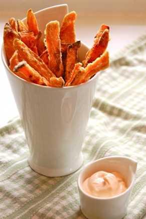 Patatas dulces fritas