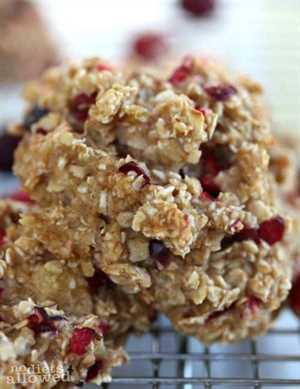 galletas saludables de avena para el desayuno