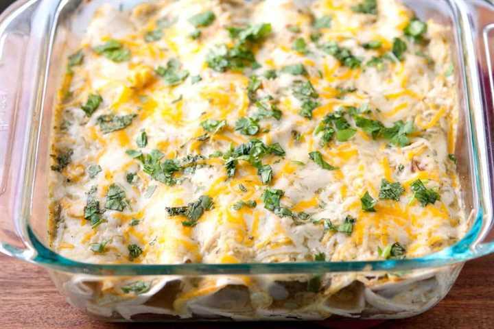 Receta de enchiladas de pollo con salsa verde