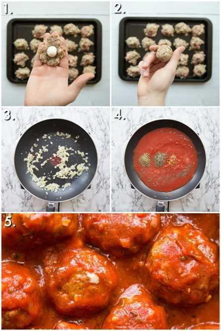 Cómo hacer albóndigas rellenas de queso - 5 fotos paso a paso