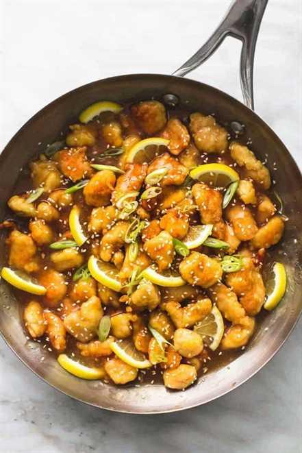 Pollo al limón chino pegajoso