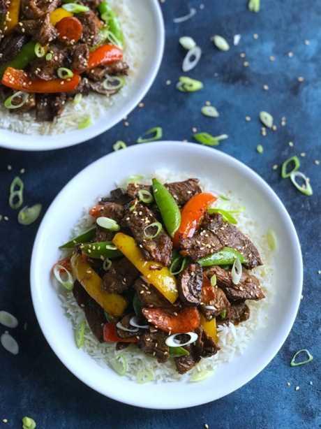 Filete de pimienta asiática salteado