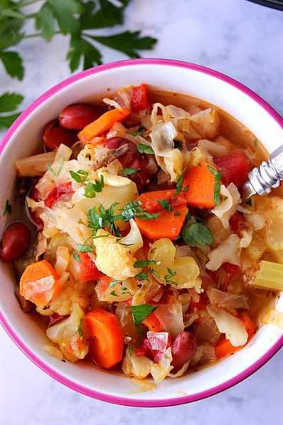 Receta de sopa de verduras Instant Pot 1 Recetas saludables de Instant Pot para todos