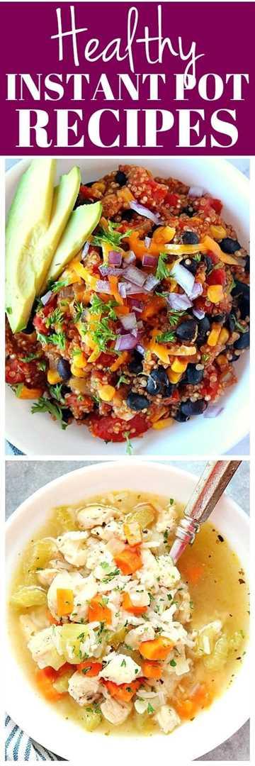 collage de recetas de olla a presión Instantánea saludable 1 Recetas de olla instantánea saludable para todos