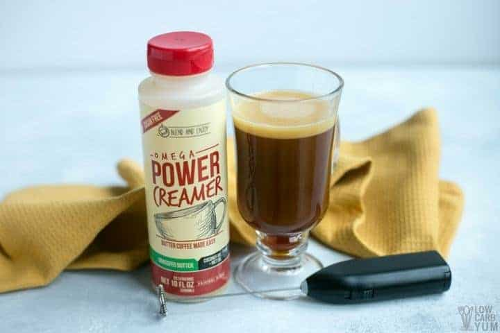 Learn how to make a powerful cream keto coffee the easy way. With Power Omega Creamer, simply mix the pre-made mix of ghee, MCT oil, and coconut oil.