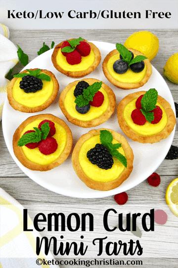 PIN Keto tartaletas de limón