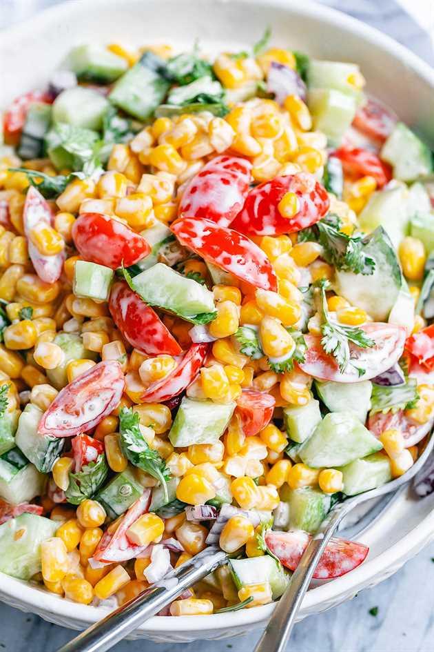 ensalada de maíz saludable