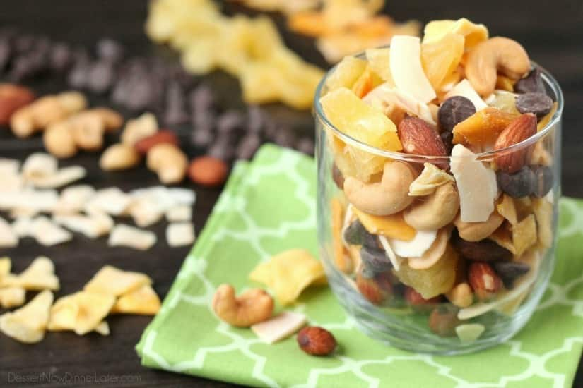 This Tropical Trail Mix is ​​salty, sweet and full of Sunsweet tropical flavors! A great snack to go!