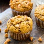 Pumpkin and caramel muffins
