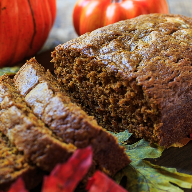 Spicy Pumpkin Bread - With a great dose of fall spices, this moist pumpkin bread is not without flavor.
