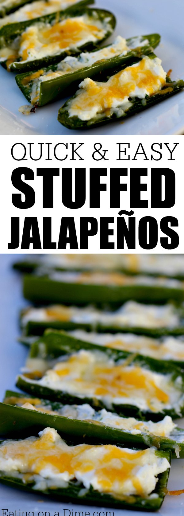 Do you need a quick and easy snack? This cheese-filled jalapeño pepper recipe will be your new favorite recipe for stuffed jalapeño peppers. It's easy to do and everyone loves them!