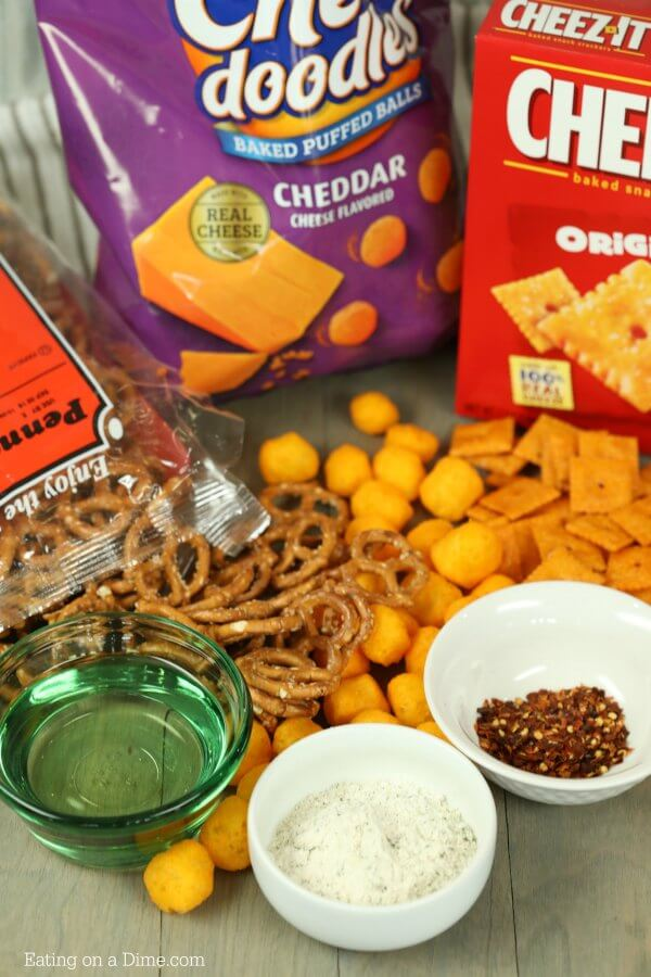 If you're looking for a game day snack, this spicy cheez-it snack mix recipe is perfect! Spicy Cheez-it's are amazing, but they taste even better in this cheez-it snack mix.
