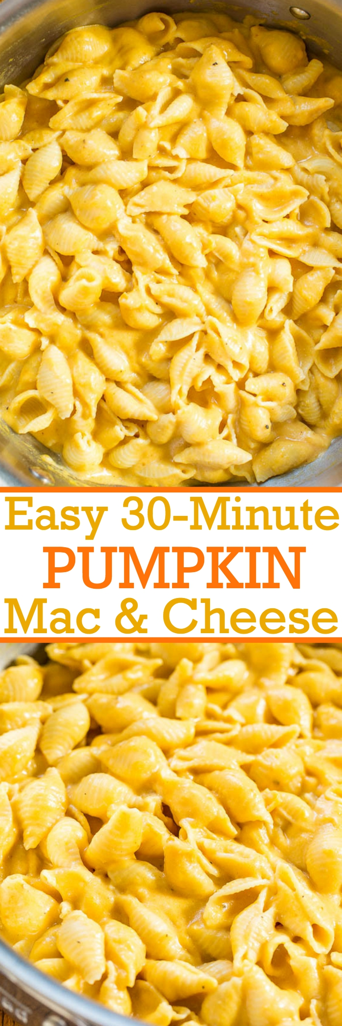 Easy 30 minute stove top pumpkin macaroni and cheese - the flavor of the pumpkin is subtle compared to the super CHEESE and creamy factor! Pumpkin increases the cheesy to a whole new level that everyone loves!
