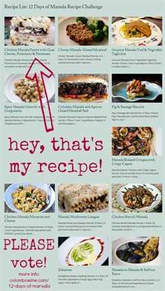 12 días de desafío de recetas de marsala