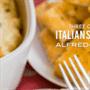Salchicha italiana de tres quesos Alfredo horneado
