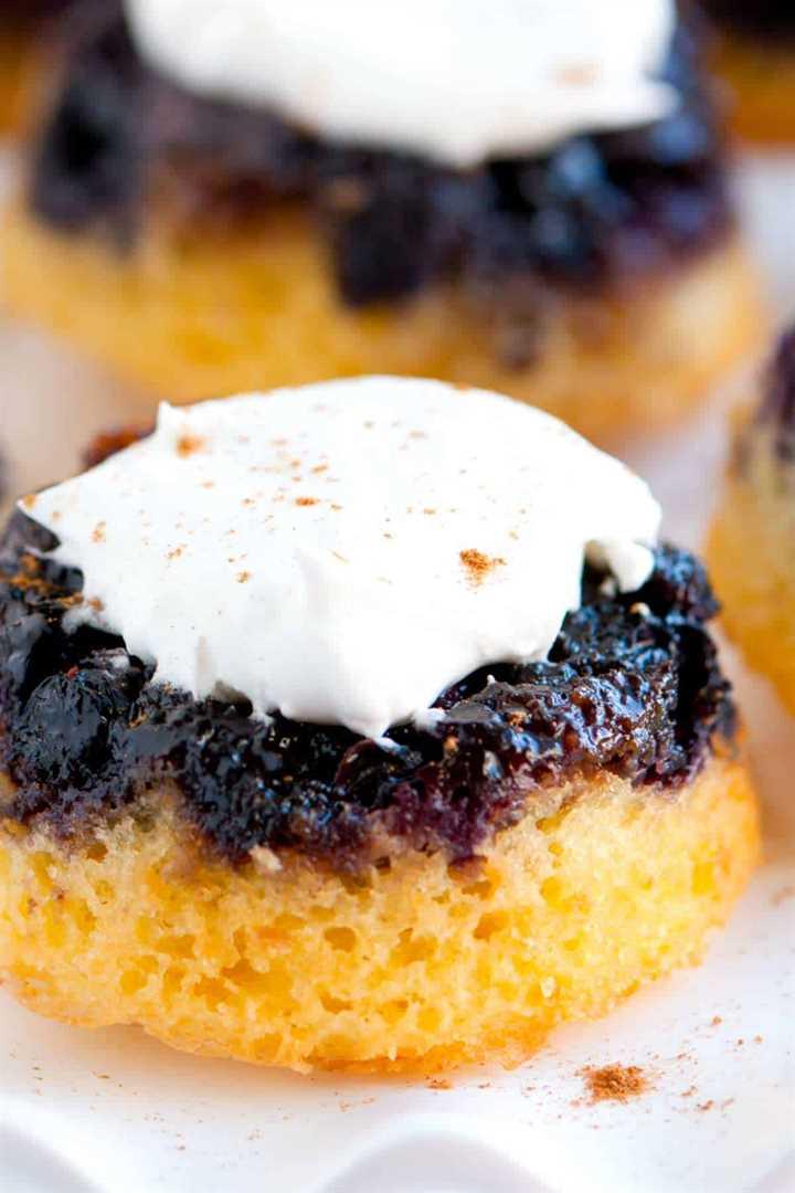 Cómo hacer mini pasteles de arándanos