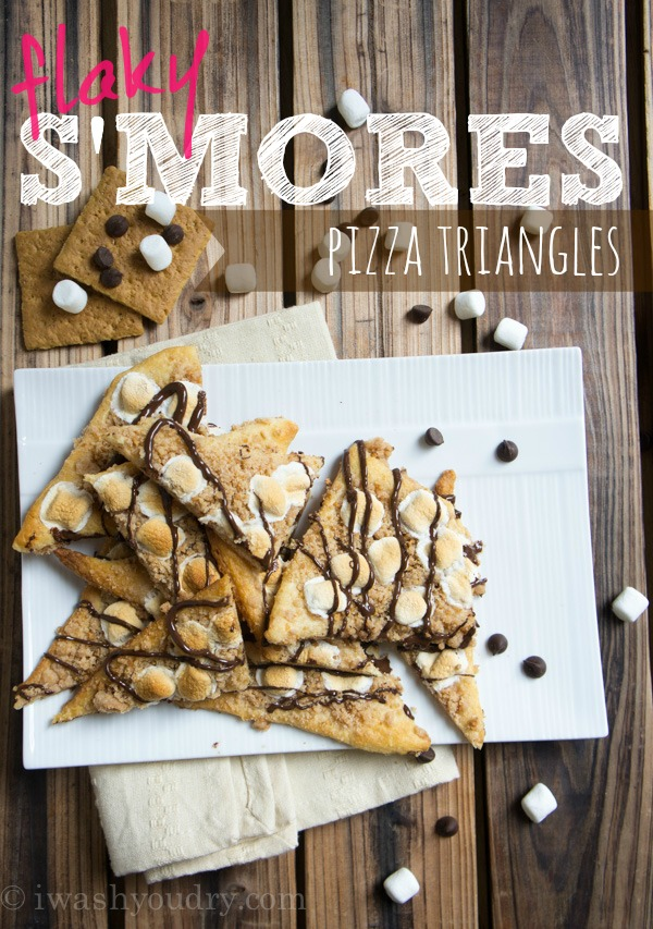 S'mores flaky pizza triangles