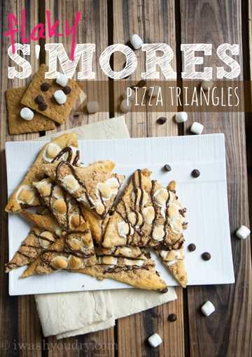 Triángulos de pizza escamosa S'mores