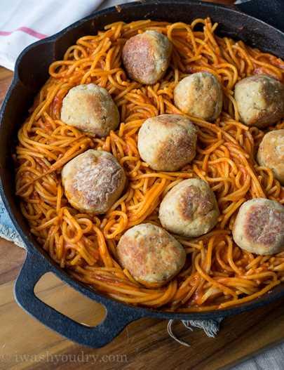 """Frying pan with chicken and parmesan meatballs """"width ="""" 675 """"height ="""" 879 """"srcset ="""" https://juegoscocinarpasteleria.org/wp-content/uploads/2020/03/1583094726_534_Sarten-de-albondigas-de-pollo-parmesano .jpg 675w, https: //iwashyoudry.com/wp-content/uploads/2015/09/Chicken-Parmesan-Meatball-Skillet-4-600x781.jpg 600w, https://iwashyoudry.com/wp-content/uploads / 2015/09 / Chicken-Parmesan-Meatball-Skillet-4-18x24.jpg 18w, https://iwashyoudry.com/wp-content/uploads/2015/09/Chicken-Parmesan-Meatball-Skillet-4-28x36. jpg 28w, https: //iwashyoudry.com/wp-content/uploads/2015/09/Chicken-Parmesan-Meatball-Skillet-4-37x48.jpg 37w """"sizes ="""" (maximum width: 675px) 100vw, 675px"""