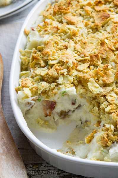 ¡Cazuela de puré de patatas con ajo cargado!