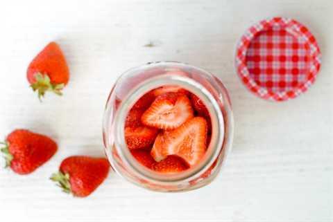 Tarro con fresas