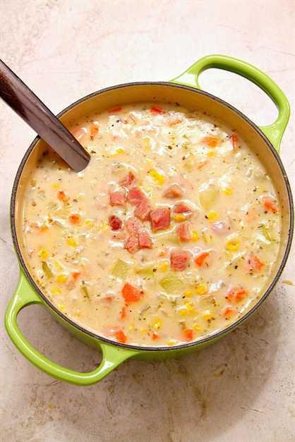 sopa de jamón 4 Receta de sopa de patata y maíz con jamón