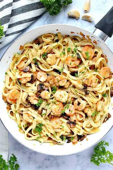 pasta de camarones con champiñones al ajo 1 receta de pasta de camarones con champiñones y mantequilla de ajo