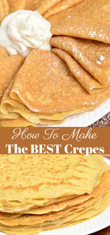 Las crepas son delicadamente suaves con un pequeño crujido en los extremos. Aprenda cómo hacer estos crepes clásicos suaves y mantecosos en muy poco tiempo y con algunos ingredientes simples. # crepes # desayuno # postre # receta de crepes