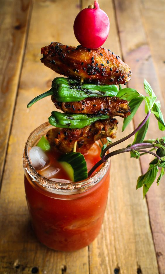 This is the definitive list of the best Bloody Mary mixes, drinks and recipes. Set up a Bloody Mary bar for brunch or even a wedding. Bloody Mary can have almost any garnish!