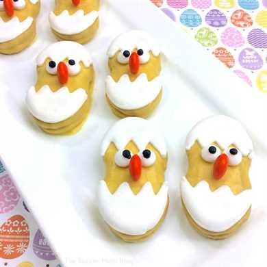 Galletas de mantequilla de pollito de pascua para bebés