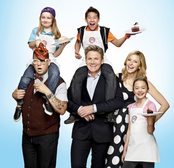 MASTERCHEF JUNIOR: Judges Gordon Ramsay, Graham Elliot, and Christina Tosi find the next best junior chef in America, when MASTERCHEF JUNIOR returns on Friday, November 6 (8: 00-9: 00 PM ET / PT). Left to right photo: Graham Elliot, contestant Addison, Gordon Ramsay, contestant Tae-Ho, Christina Tosi, and contestant Kaitlyn. © 2105 FOX Broadcasting Co. CR: Brian Bowen Smith / FOX.