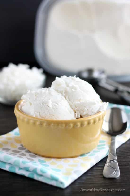 Smoothie-Free Coconut Ice Cream - Just 2 Ingredients To Make This Creamy And Smooth Coconut Ice Cream Without A Machine!