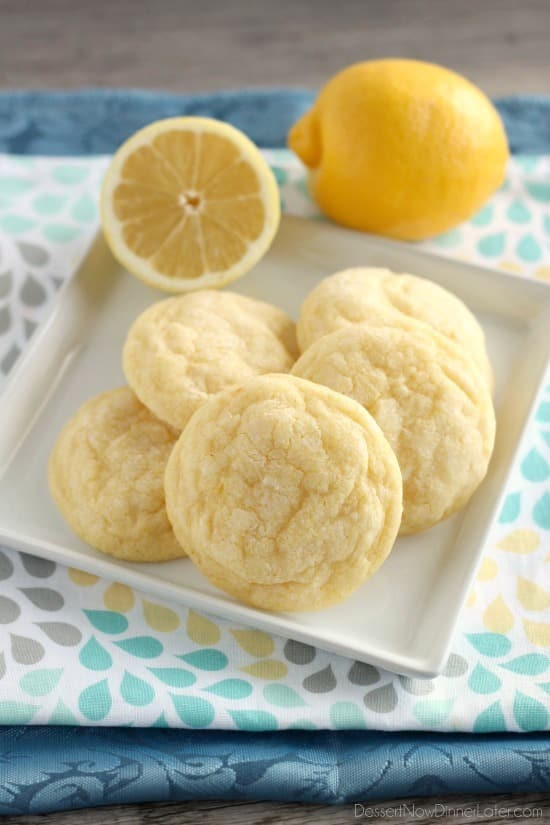 These lemon cookies bake gently and have plenty of lemon zest, lemon juice, and lemon extract at all times for a delicious lemon treat!