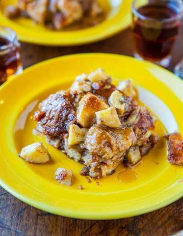 Hawaiian Bread & Maple Banana Baked French Toast averiecooks.com