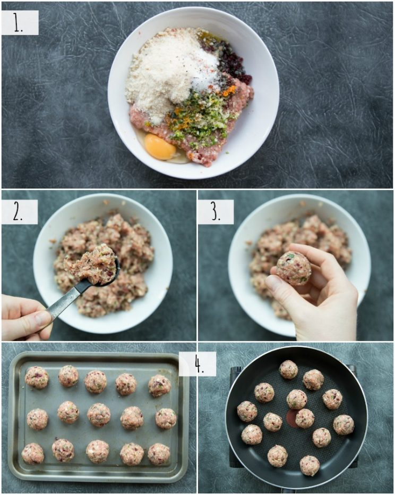 Cómo hacer albóndigas de pavo con arándanos - fotos paso a paso