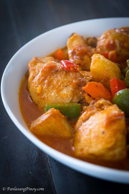 receta de caldereta de pollo