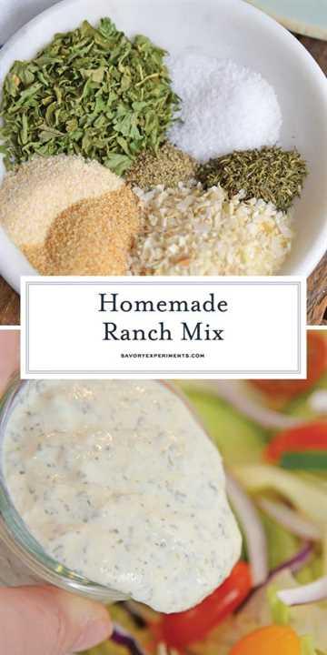 Mezcla de aderezo ranch para pinterest