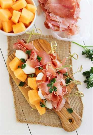 brochetas de melón