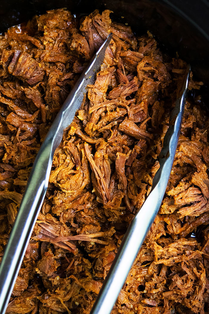 Carne de res rallada mexicana