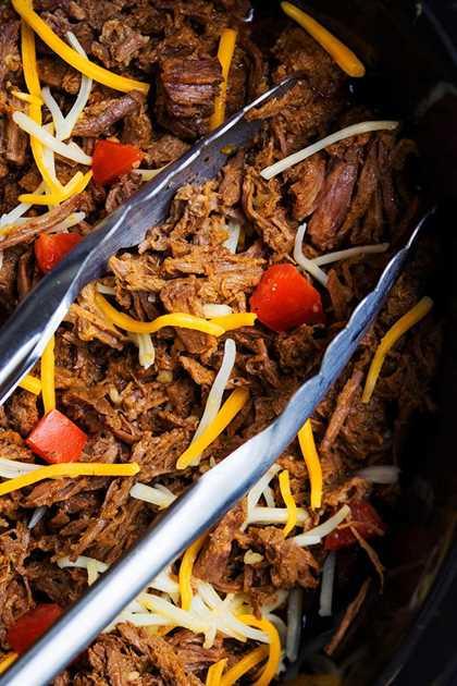 Crockpot Chipotle Barbacoa Carne