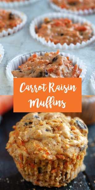Los muffins de zanahoria y pasas están cargados de zanahorias ralladas, las pasas y las nueces agregan crujiente de nuez. Los muffins se sirven muy bien con una taza de café por la mañana. # desayuno #muffin # receta # sin lácteos #carrot #spring #easter #vegan #veganrecipes #brunch