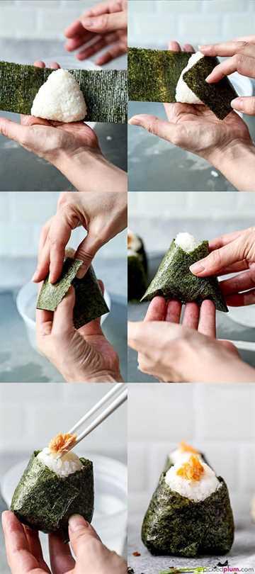 Todo sobre Onigiri - お に ぎ り - (Cómo hacer + 4 recetas fáciles) - Rellenos fáciles para los amantes del pescado y los veganos (vegetarianos), aprende a hacer onigiri hermosos. Estos hacen un almuerzo o merienda simple y saludable (también para niños). #japanesefood #snacks #healthyrecipes #homemade #rice | pickledplum.com