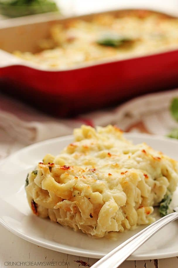 Salsa de coliflor saludable convierte los macarrones en un plato delicioso y saludable @crunchycreamysw Salsa de espinaca saludable Mac y queso